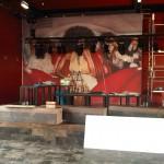 Grote kast +- 13 meter x 4 meter voorzien van print op behang