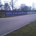 Full color sponsorbord MacCarwash Amersfoort
