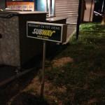Lichtbak met belettering Subway
