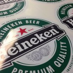Full color Heineken stickers