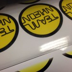 NH Hotels ronde geprintte en geplotte stickers