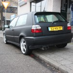 Carwrapping mat zwart Golf